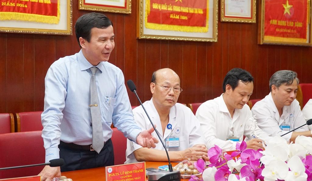 PGS.TS.BS Lê Đình Thanh - Giám đốc Bệnh viện Thống Nhất