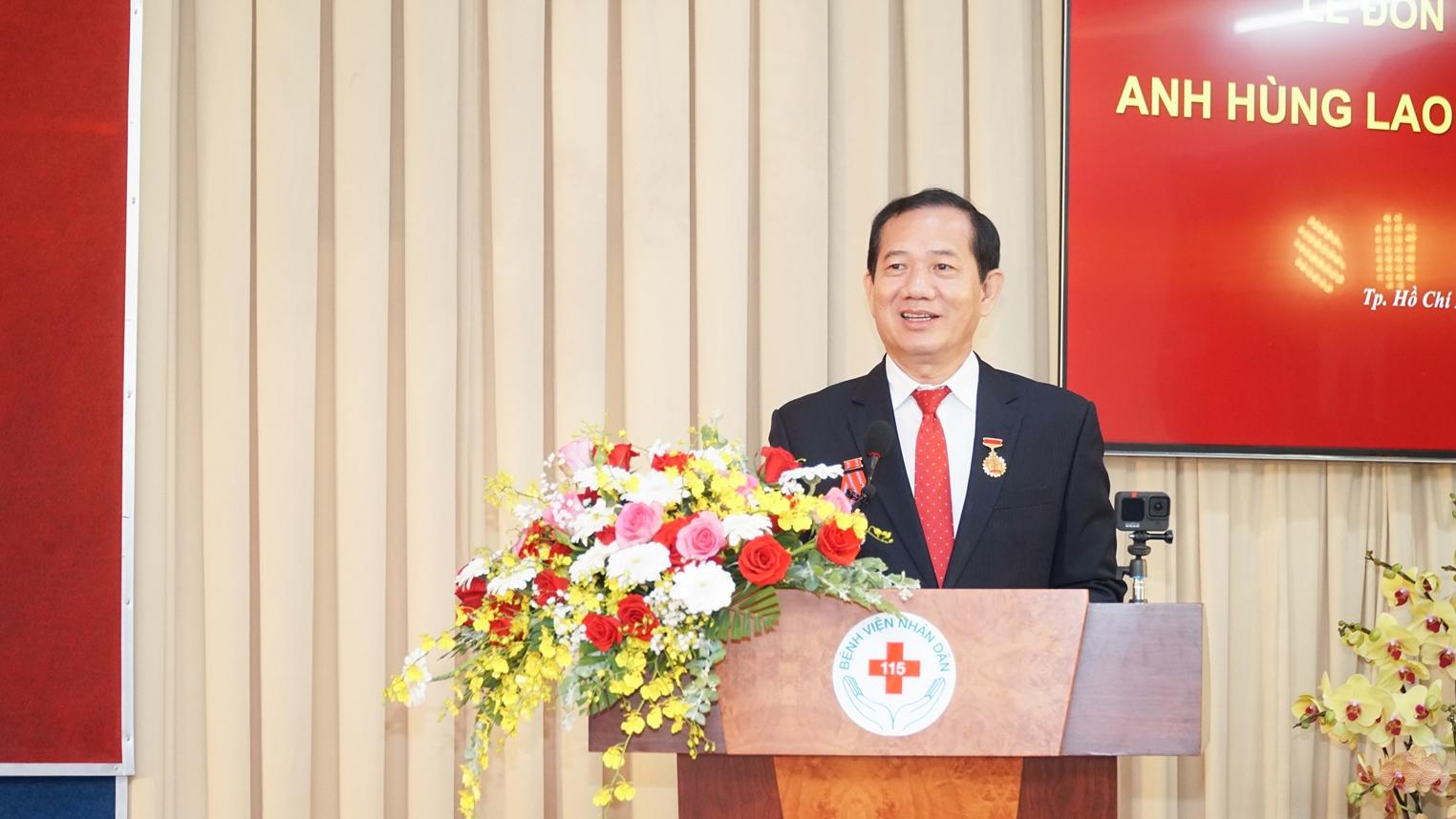 TS.BS Phan Văn Báu - Giám đốc Bệnh viện Nhân dân 115